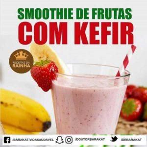 Smoothie de frutas com kefir
