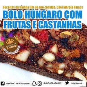 Bolo Húngaro com frutas e castanhas