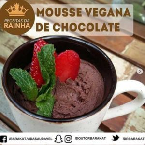 Mousse Vegana De Chocolate