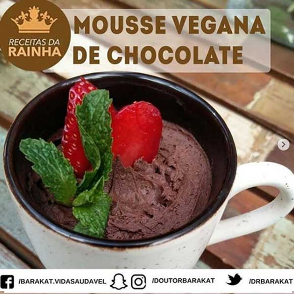 Mousse Vegana De Chocolate