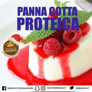Panna cotta proteica