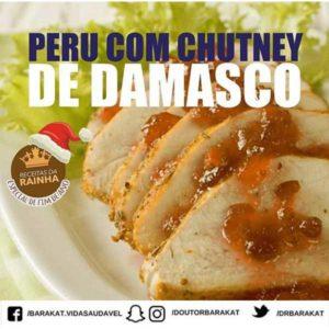 Peru com chutney de damasco