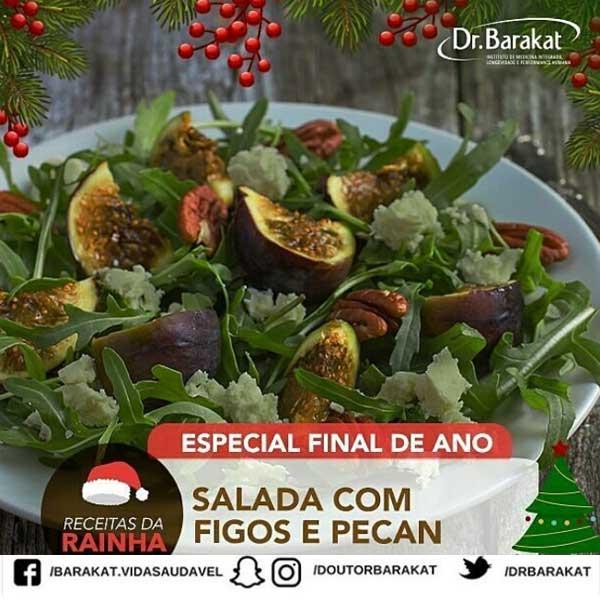 Salada com figos e pecan